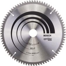 Kotouč pilový Bosch Optiline Wood 254×30×2,5 mm 80 z.
