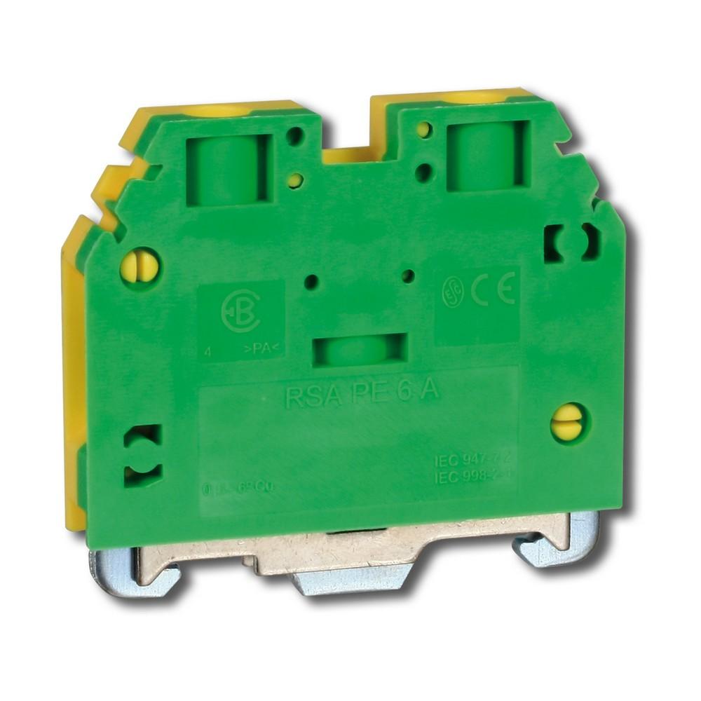 Svorka řadová RSA PE 6 A zelenožlutá, cena za ks