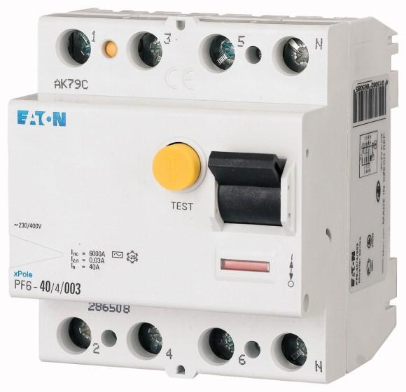 Chránič proudový Eaton PF6-25/4/003 6 kA 4pól 25 A