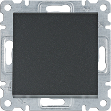 Ovládač tlačítkový Hager lumina, černá