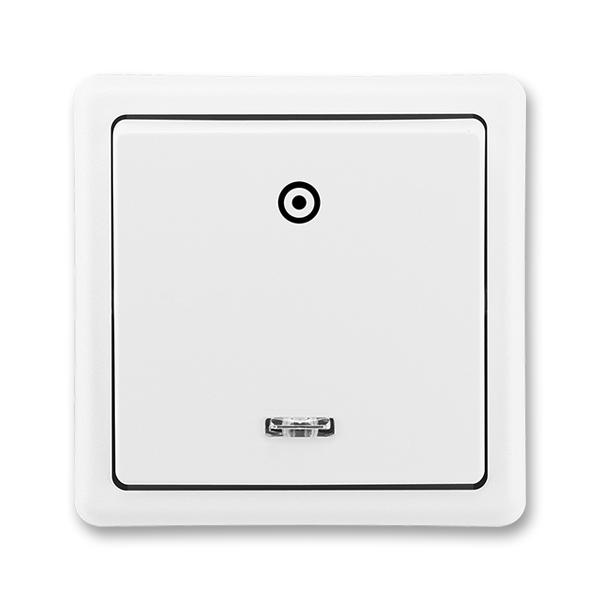 Ovládač zapínací se signalizační doutnavkou Classic jasně bílá