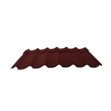 Velkoformátová profilovaná plechová střešní krytina MAXIDEK SP25 2R036 vínová