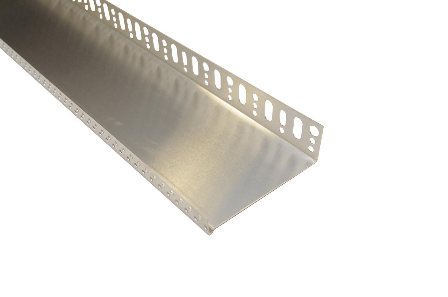 Zakládací profil pod ETICS, hliníková tl. 0,7 mm, šířka 123 mm, délka 2 m