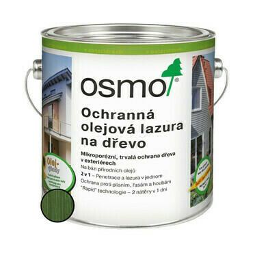 Lazura olejová ochranná Osmo 729 jedlově zelená 0,75 l