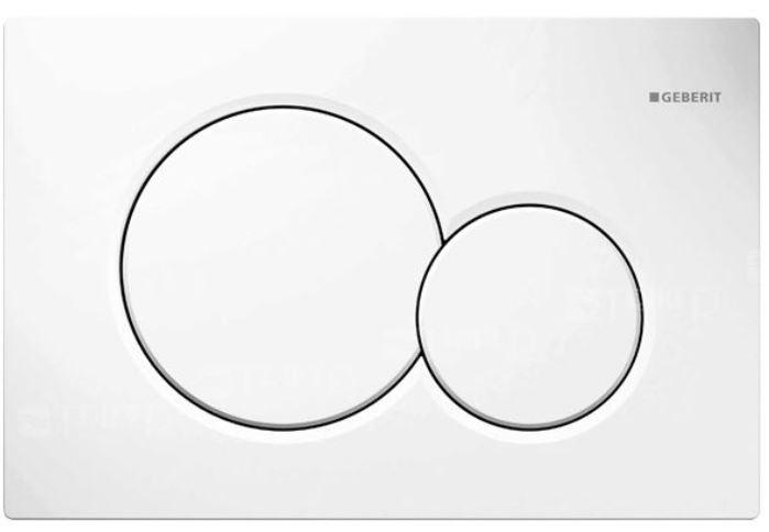 GEBERIT ovládací tlačítko Sigma01, pro 2 množství splachování: Alpská bílá