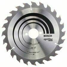 Kotouč pilový Bosch Optiline Wood 190×30×2,6 mm 24 z.