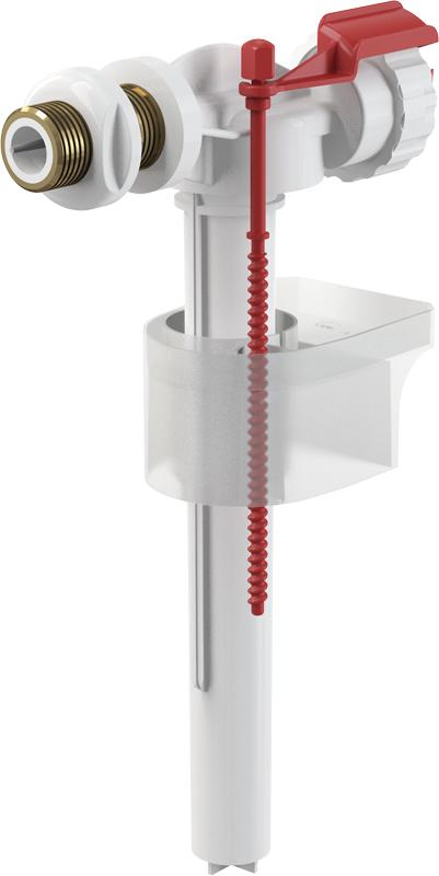 """Napouštěcí boční ventil Alcaplast A16-1/2"""" kovový závit pro keramické nádržky"""