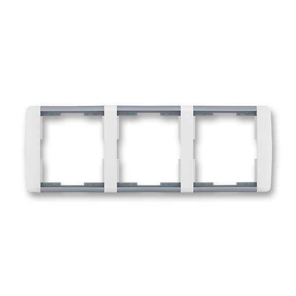 Rámeček trojnásobný vodorovný Element bílá / ledová šedá