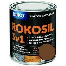 Barva samozákladující Rokosil akryl 3v1 RK 300 hnědá čoko 0,6 l