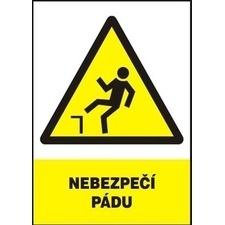 Tabule výstražná Nebezpečí pádu A4