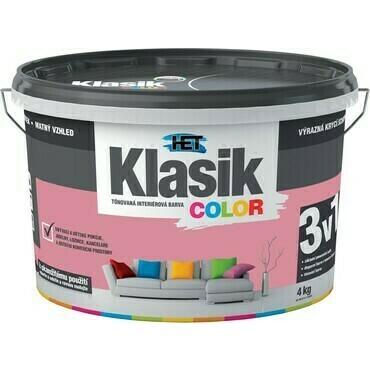 Malba interiérová HET Klasik Color růžový, 4 kg