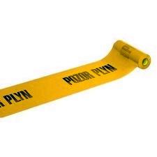 Fólie výstražná žlutá – POZOR PLYN 20 m