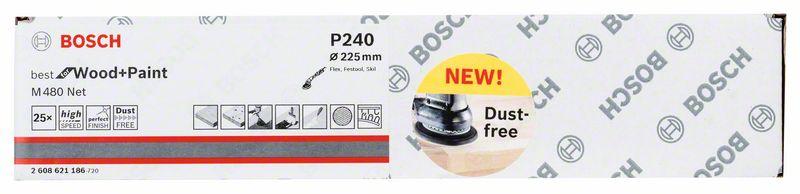 Mřížka brusná Bosch M480 Best for Wood and Paint 225 mm 240