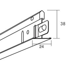 Profil hlavní Ecophone Connect T24 24×38×3700 mm