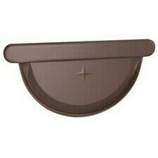 Čelo žlabu velké DEKRAIN 330 FeZn lakované ROBUST čokoládově hnědé RAL 8017