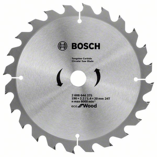 Kotouč pilový Bosch Eco for Wood 190×22,23×1,4 mm 24 z.
