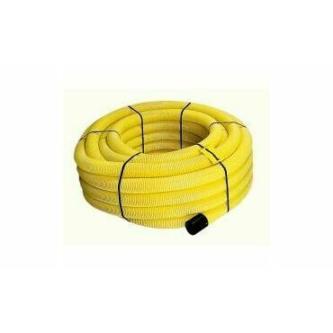 Celoperforovaná ohebná drenážní trubka z PVC-U DN 100, 1 m, žlutá