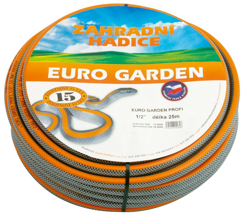 """Hadice EURO Garden PROFI 1/2"""", 50 m"""