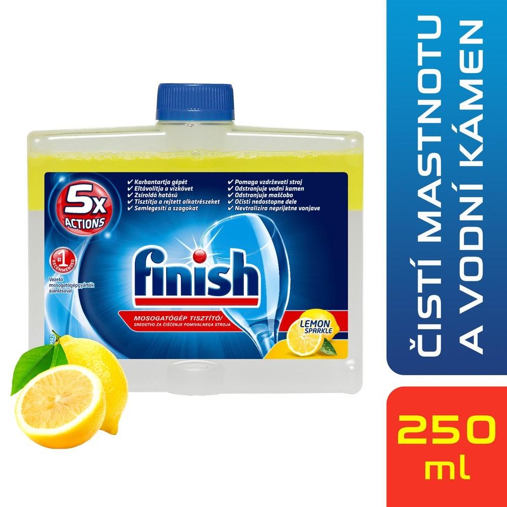 Čistič myčky FINISH Lemon 250 ml DUO