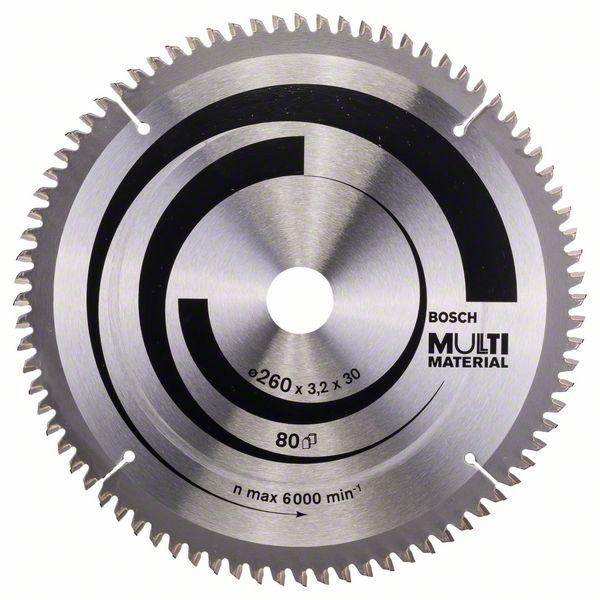 Kotouč pilový Bosch Multi Material 260×30×2,5 mm 80 z.