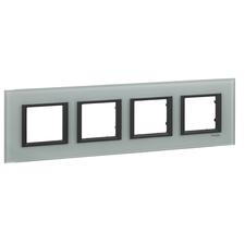 Rámeček čtyřnásobný, Unica Class, grey glass