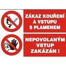 Samolepka Zákaz kouření/Nepovolaným vstup zakázán A5
