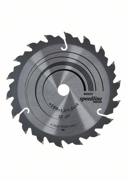 Kotouč pilový Bosch Speedline Wood 160×16×1,6 mm 18 z.