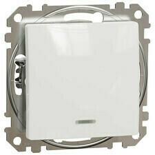 Tlačítko Schneider Sedna Design řazení 1/0So bílá