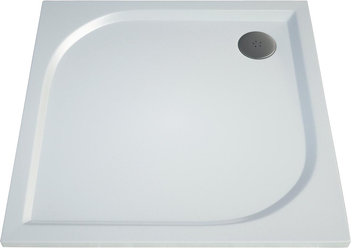 Čtvercová sprchová vanička TRACY 1000×1000×30 mm, litý mramor