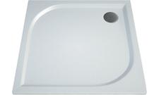 Čtvercová sprchová vanička TRACY 800×800×30 mm, litý mramor