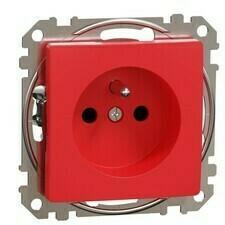 Zásuvka Schneider Sedna Design jednonásobná červená