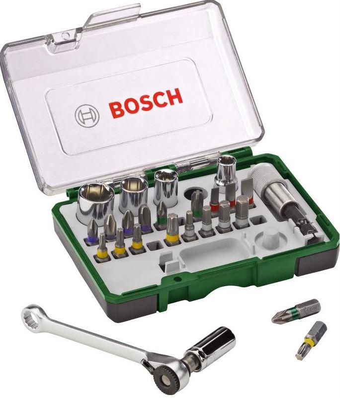 Šroubovací sada Bosch s ráčnou (27 ks/sada)