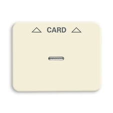 Kryt spínače kartového Alpha, čirý průzor, potisk, slonovina