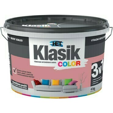 Malba interiérová HET Klasik Color červený cihlový, 4 kg