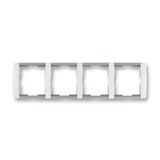 Rámeček čtyřnásobný vodorovný Element bílá / ledová šedá