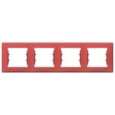 Rámeček čtyřnásobný, Sedna, červená