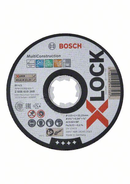 Kotouč řezný korundový Bosch Multi Construction X-LOCK 115×22,23×1 mm 25 ks