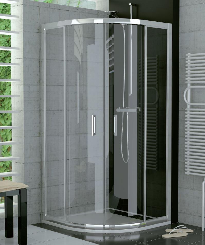 Sprchový kout Ronal čtvrtkruh 800x800