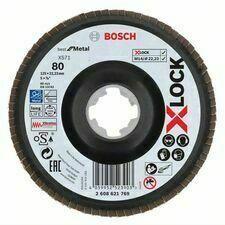 Kotouč brusný lamelový Bosch X571 Best for Metal X-LOCK 125×22,23 mm 80 10 ks
