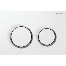 Tlačítko ovládací Geberit OMEGA20 bílá/lesklý chrom