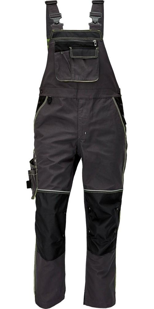 Kalhoty KNOXFIELD s laclem, antracit/žlutá, vel. 56