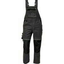 Kalhoty s laclem Cerva KNOXFIELD antracit/žlutá 54