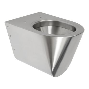 WC závěsné nerezové Sanela SLWN 12, antivandalové