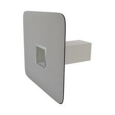 Hranatý pojistný přepad s integrovaným PVC límcem o rozměru 50×100 mm
