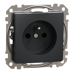 Zásuvka Schneider Sedna Design jednonásobná antracit