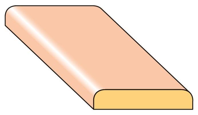 Lišta krycí K3 smrk nastavený 20×4×2000 mm, 25 ks/bal.