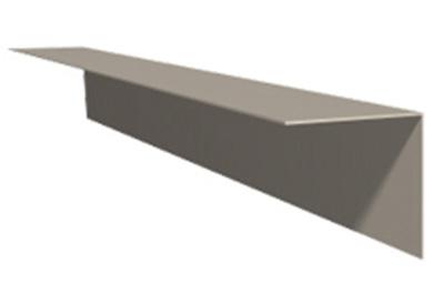 Rohová lišta z poplastovaného plechu Viplanyl 50x50 mm, r.š. 100 mm