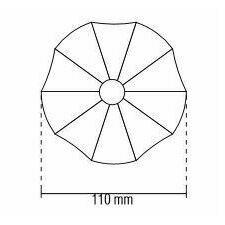 Vlnovec MAPEPLAN T 140 mm (bílá)