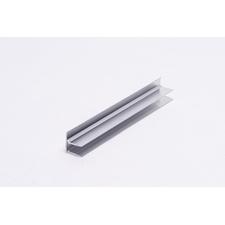 Ukončovací U hliníkový profil s okapnicí pro polykarbonátové desky 10mm, délka 6m
