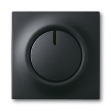 Kryt stmívače s otočným ovladačem Impuls mechová černá